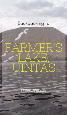 Backpacking to Farmer's Lake,Timothy Lakes Basin, Uintas