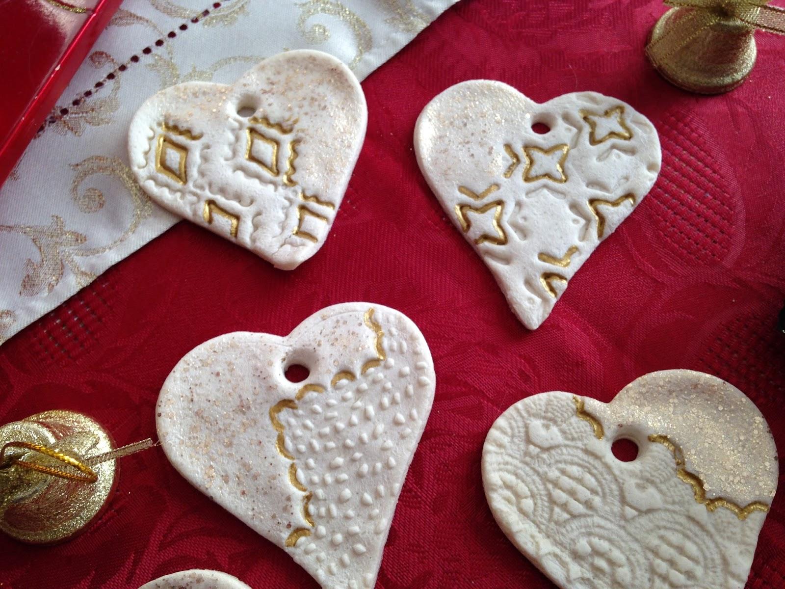Segnaposto Natalizi Pasta Di Sale.Incanto Rosa Decorazioni Natalizie Con La Pasta Di Sale