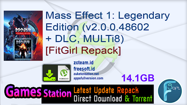 Mass Effect 1: Legendary Edition (v2.0.0.48602 + DLC, MULTi8) [FitGirl Repack, Selective Download – from 8.6 GB]