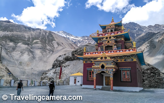 Gue Monastery - Beautifully located around huge mountains of Spiti Valley