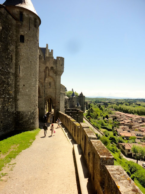 Outer ramparts of La Cite, Carcassonne, France