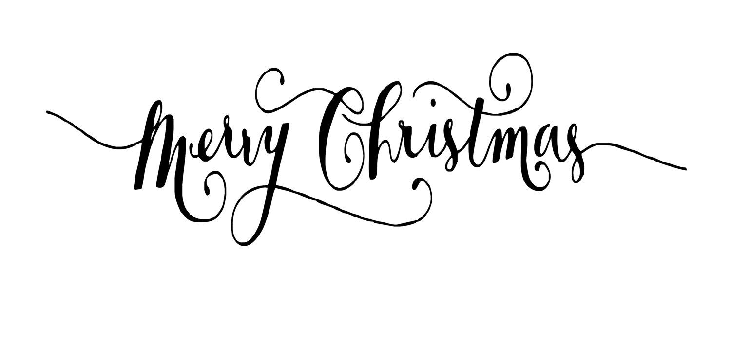 Top merry christmas calligraphy