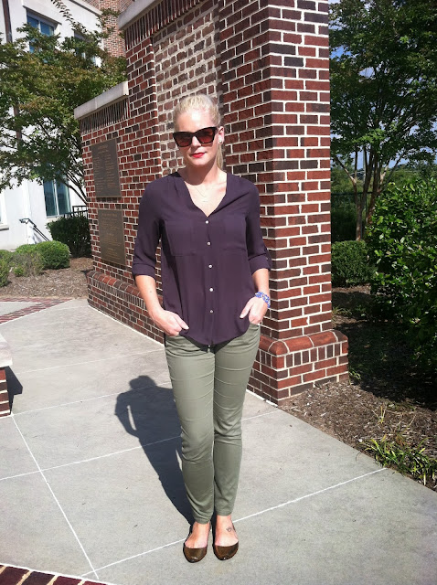 Olive Skinnies on Darling Cashmere