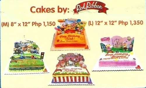 Jollibee Party Cakes