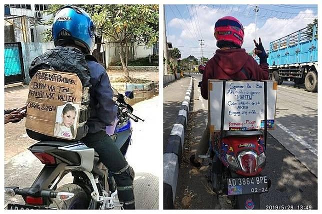 Viral !! Kumpulan Tulisan Kocak Anti Ngantuk Para Pemudik Motor
