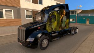 Lara Croft skin for Peterbilt 579