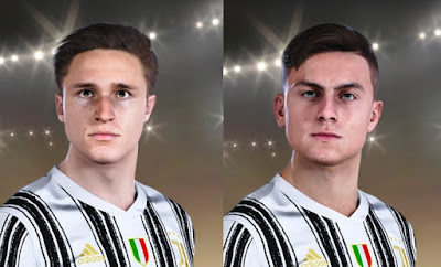 PES 2021 Faces Paulo Dybala & Federico Chiesa by NorD