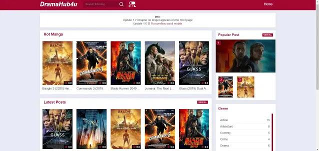 Dramahub4u Blogger Movies And Streaming Template