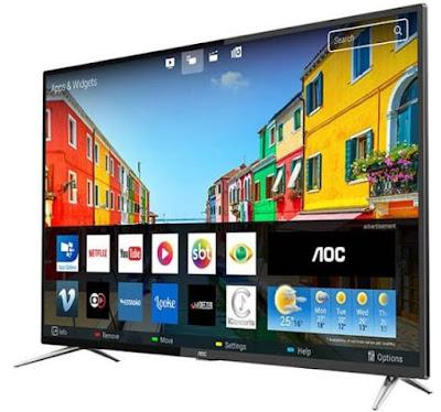 "Foto da Smart TV LED 50"" AOC 4K LE50U7970S 4 HDMI"