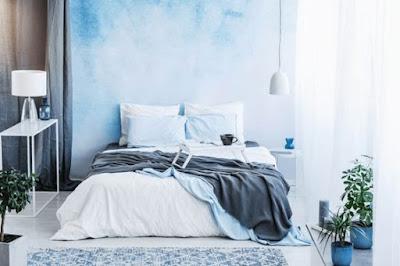 desain Kamar Warna Biru Soft minimalis dan Estetik