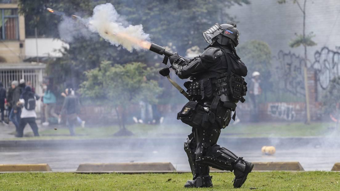 Vuelven los gases lacrimógenos en protestas