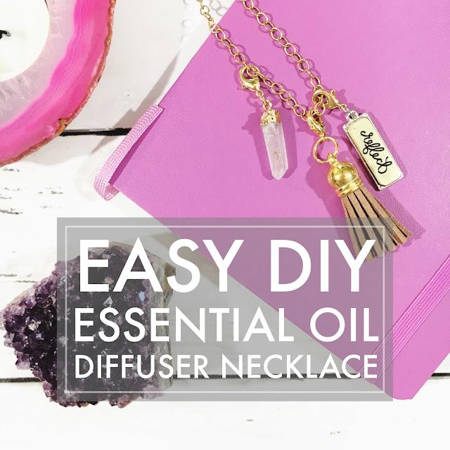 Easy DIY Essential Oil Diffuser Necklace