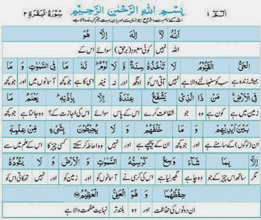 Quran Word By Word Urdu Translation Para 1
