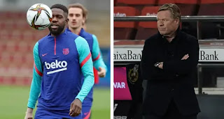 Umtiti's physical condition may affect Koeman 3-5-2 formation ahead of PSG clash