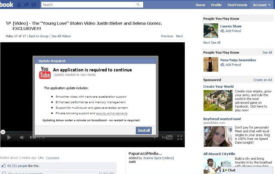 how to break a facebook password online