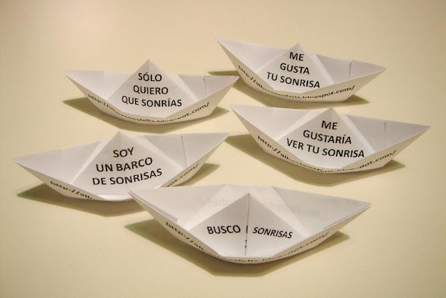 Barcos hechos con papiroflexia