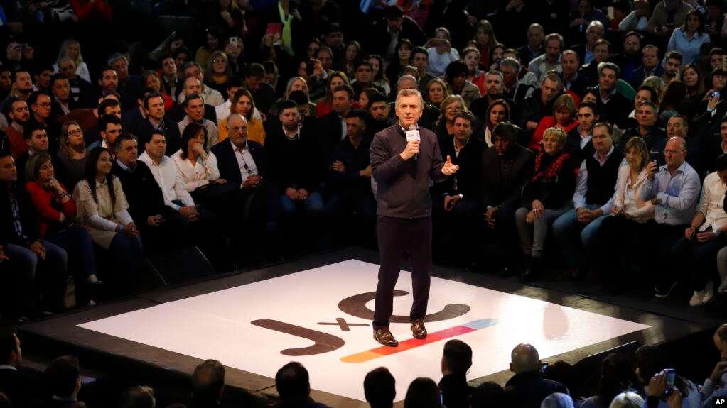 El presidente argentino, Mauricio Macri, hace campaña el miércoles, 7 de agosto de 2019, en anticipación a elecciones primarias previstas para el domingo próximo / AP