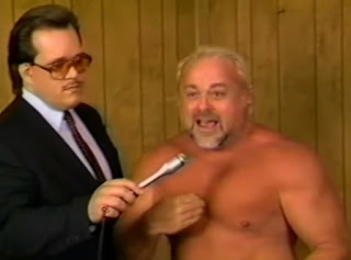 Smoky Mountain Wrestling - Kevin Sullivan is interviewed before his match