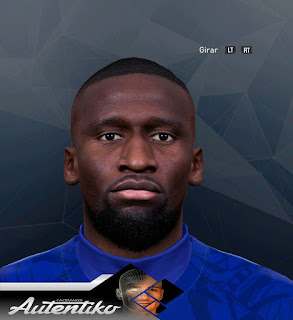PES 2017 Faces Antonio Rudiger by Autentiko