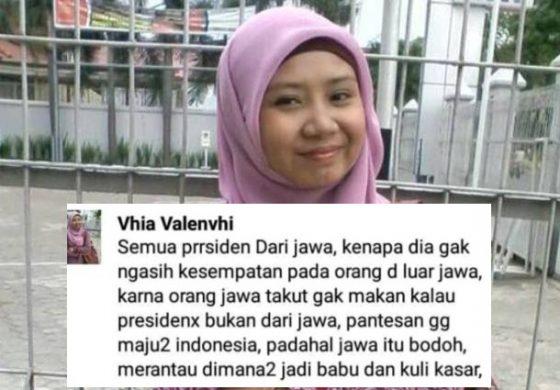 Hina Orang Jawa, Vhia Valenvhi Jadi Orang Paling Dicari di Media Sosial