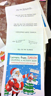 letters from santa coloring book set