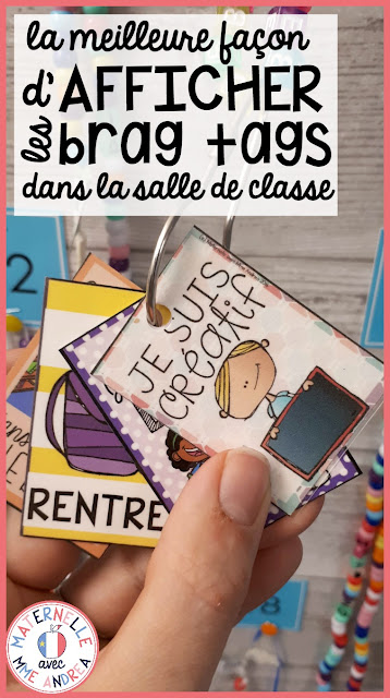 Do you want to try brag tags in your French classroom, but aren't sure where to start, or how to display them? Check out this blog post for tips on how to get your students to make brag tag necklaces, and download a FREE set of French brag tags to try!