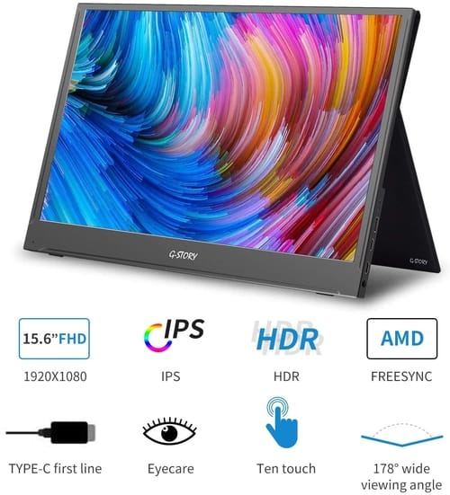 Review G-Story 15.6 Inch Touchscreen FHD Portable Monitor