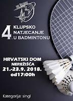 4. klupsko natjecanje u badmintonu Nerežišća slike otok Brač Online