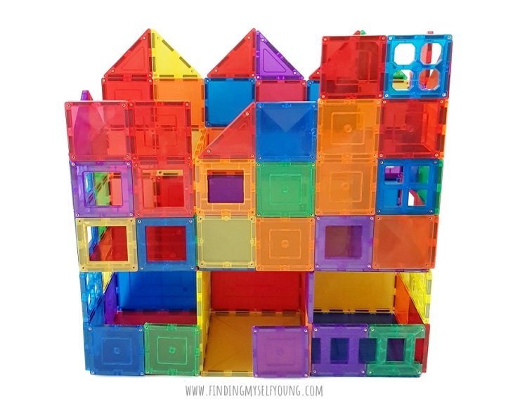 magnetic tile tower house
