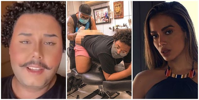 """Fã de Anitta faz tatuagem em parte íntima: """"Não ligo pra críticas"""""""