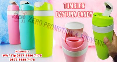 tumbler daytona candy, botol minum Daytona candy, Daytona Candy Travel Tumbler, Barang Promosi Daytona Candy Travel Tumbler