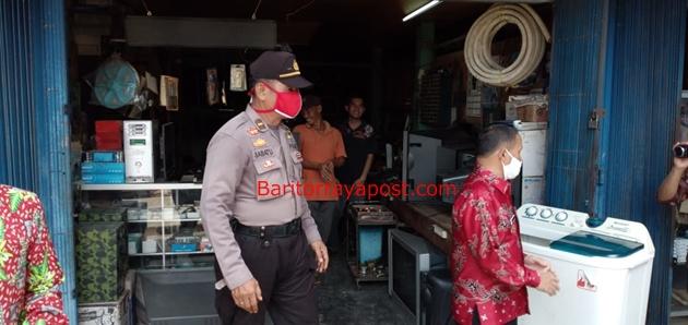 Tindakan Nyata Polsek Dusteng Untuk Mencegah Penyebaran Covid- 19 di Wilayah Hukum Polres Bartim