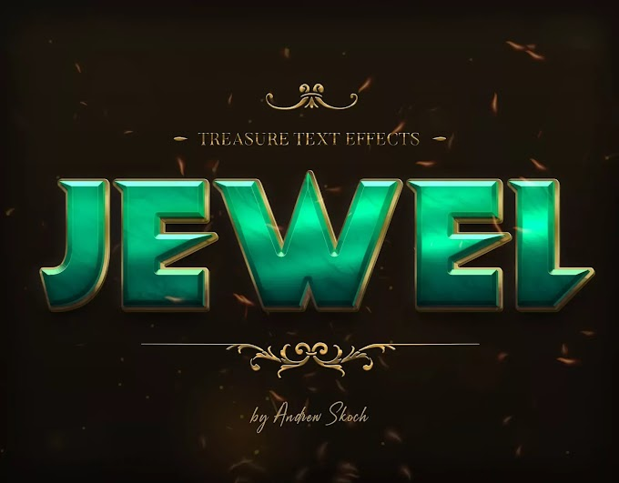 JEWEL TREASURE PSD TEXT EFFECT