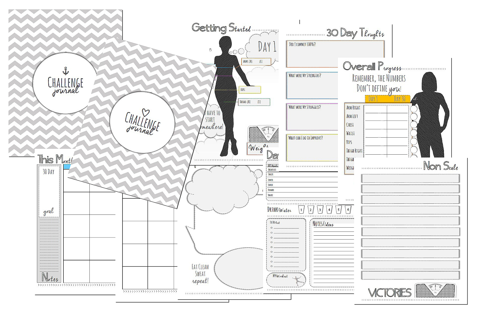 Planner Shop: 30 Day Challenge Planner Kit