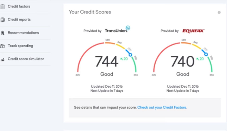 check my credit score on credit karma