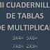 CUADERNILLO DE MULTIPLICACIONES