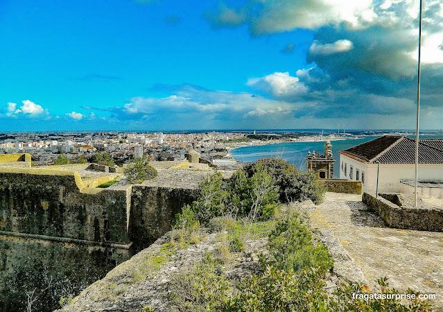 Setúbal vista do Castelo de São Filipe