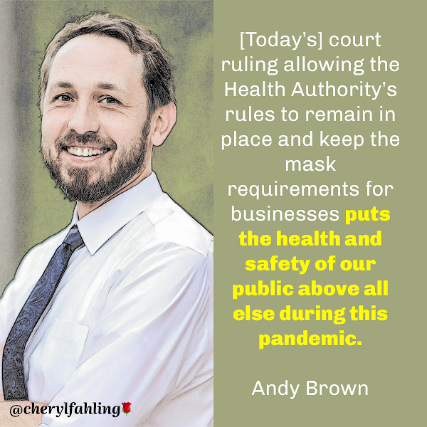 [Today's] court ruling allowing the Health Authority's rules to remain in place and keep the mask requirements for businesses puts the health and safety of our public above all else during this pandemic. — Andy Brown, Travis County Judge