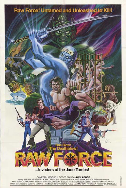 Raw Force 1982 movie poster kung fu zombies