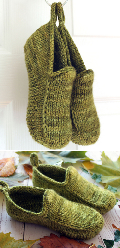 Woodland Loafers - Knitting Pattern