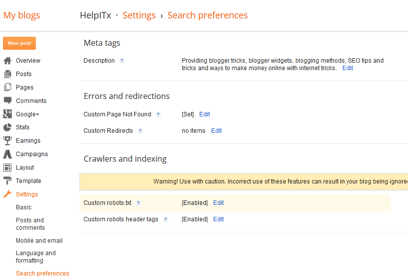 blogger-search-preference-settings