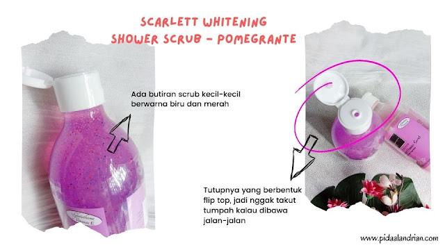Scarlett Whitening Shower Scrub - Pomegrante