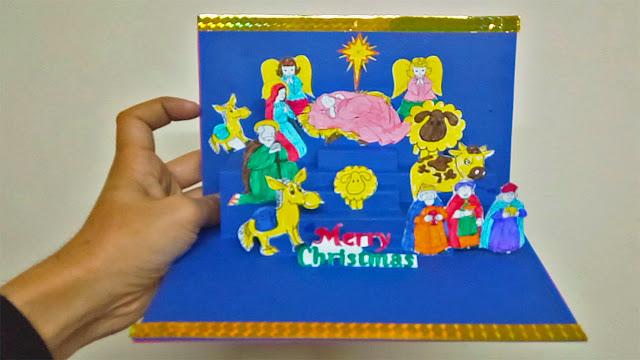 طريقة عمل مذود البقر بالورق | طريقة عمل مزود عيد الميلاد المجيد