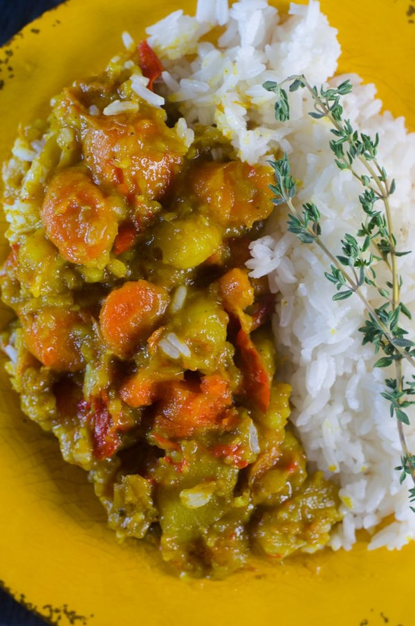 Vegetables spicy curry superfood recipe