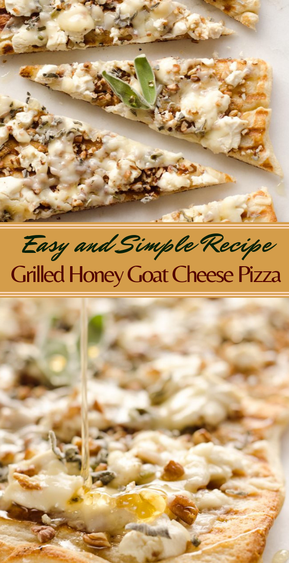 Grilled Honey Goat Cheese Pizza #healthyfood #dietketo #breakfast #food