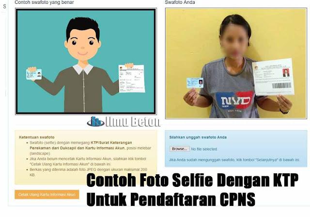 Contoh Foto Selfie Swafoto Dengan KTP Untuk Pendaftaran CPNS