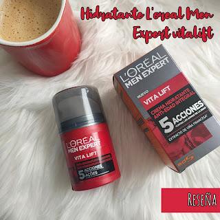 Hidratante L'oral Men Expert Vitalift - Opinión