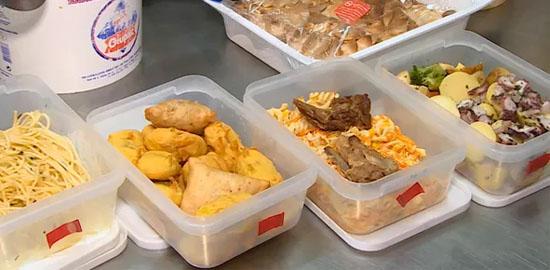 Sobras de alimentos ou alimentos já preparados