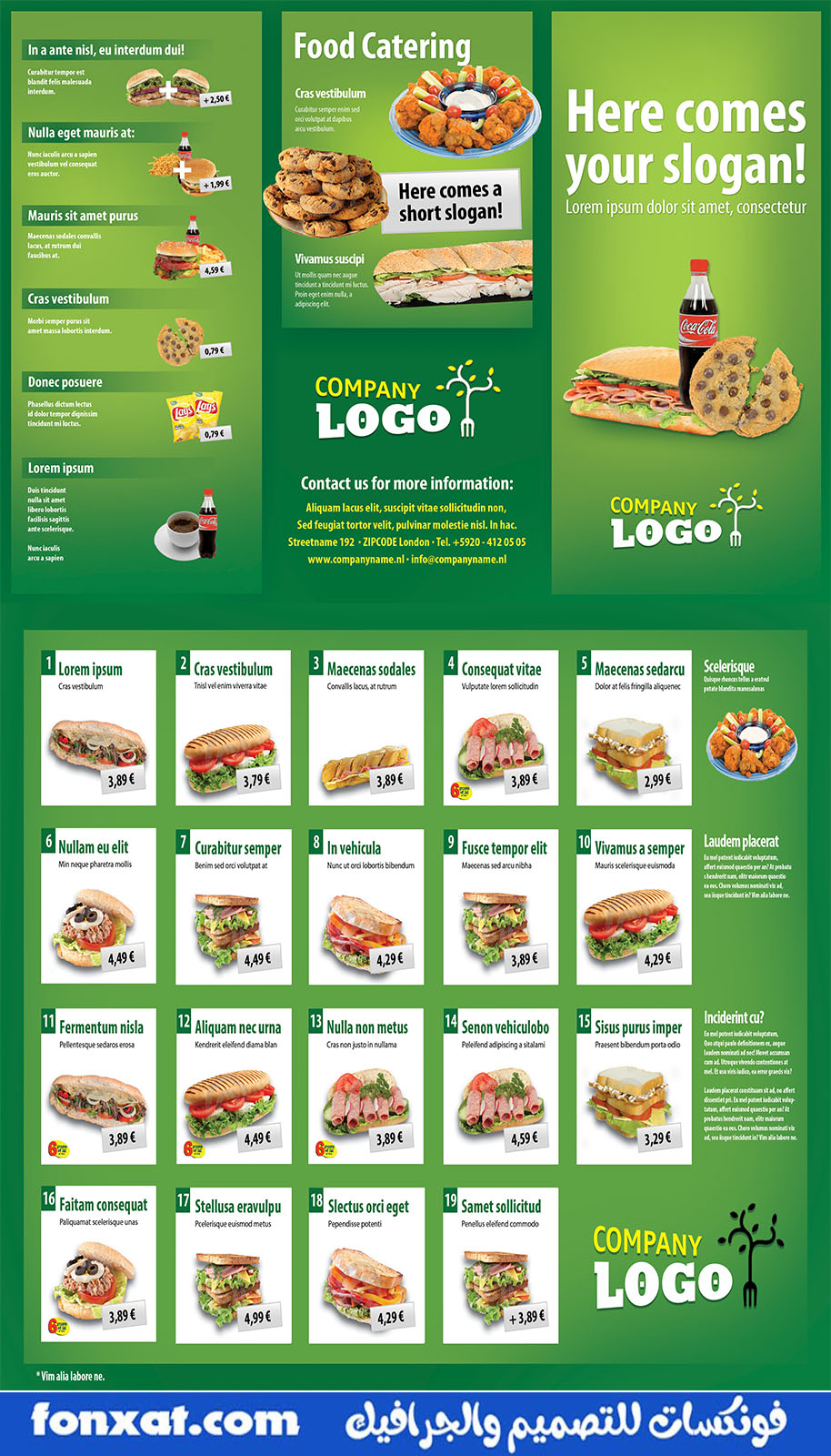 Download brochure, flyer or menu psd design for drinks and food prices
