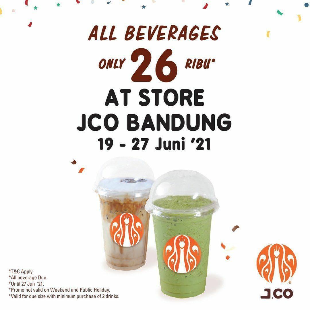 JCO Promo Semua Minuman Hanya 26 Ribu di Store JCO Bandung